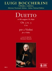 Boccherini, Luigi : Duetto Op. 3 No. 5 (G 60) in E flat Major for 2 Violins