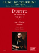 Boccherini, Luigi : Duetto Op. 3 No. 6 (G 61) in D Major for 2 Violins