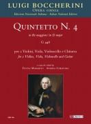 Boccherini, Luigi : Quintet No. 4 in D major (G 448) for 2 Violins, Viola, Violoncello and Guitar [Score]