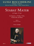 Boccherini, Luigi : Stabat Mater in F minor (G 532) for Soprano, 2 Violins, Viola, Violoncello and Basso [Score]