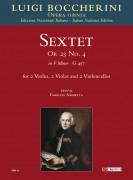 Boccherini, Luigi : Sextet Op. 23 No. 4 in F minor (G 457) for 2 Violins, 2 Violas and 2 Violoncellos