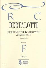 Bertalotti, Angelo : Ricercare per diversi toni a una e due voci (Bologna 1698) for Soprano and Alto