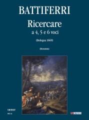 Battiferri, Luigi : Ricercare a quattro, cinque e sei voci (Bologna 1699) [Score]
