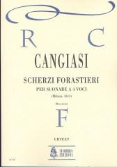 Cangiasi, Giovanni Antonio : Scherzi forastieri per suonare a quattro voci (Milano 1614) [Score]