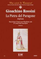 Rossini, Gioachino : La Pietra del Paragone. Sinfonia. Early transcription for Piano