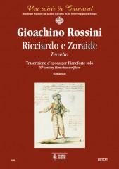Rossini, Gioachino : Ricciardo e Zoraide. Terzetto. Early transcription for Piano