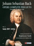 Bach, Johann Sebastian : Suite BWV 1006a for Baroque Lute