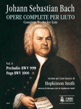 Bach, Johann Sebastian : Prelude BWV 999 - Fugue BWV 1000 for Baroque Lute