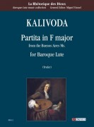 Kalivoda, Georg Adalbert : Partita in F Major (from the Buenos Aires Ms.) for Baroque Lute