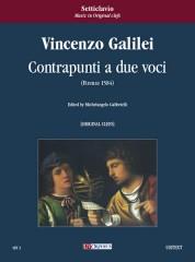 Galilei, Vincenzo : Contrapunti a due voci (Firenze 1584) [original clefs]