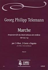 Telemann, Georg Philipp : Marche Komponiert für das Stück-Schiessen der Artillerie TWV 50: F 43 for 3 Oboes, 2 Horns and Bassoon
