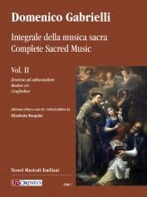 Gabrielli, Domenico : Complete Sacred Music - Vol. II: Domine ad adiuvandum - Beatus vir - Confitebor