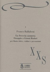 Ballabeni, Franco : La Freccia azzurra. Omaggio a Gianni Rodari for Recorder, Violin and Percussion