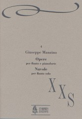 "Manzino, Giuseppe : Works for Flute and Piano. ""Nuvole"" for Flute Solo"