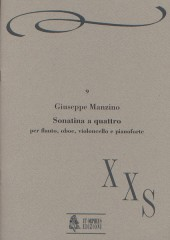 Manzino, Giuseppe : Sonatina a 4 for Flute, Oboe, Violoncello and Piano