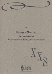 Manzino, Giuseppe : Divertimento for Harpsichord, Flute, Oboe and Violoncello (1989)