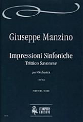 Manzino, Giuseppe : Impressioni Sinfoniche. Trittico Savonese for Orchestra (1976) [Score]