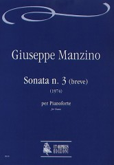 Manzino, Giuseppe : Sonata No. 3 (breve) for Piano (1974)