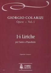 Colarizi, Giorgio : 14 Lyrics for Voice and Piano
