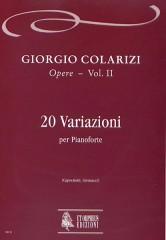Colarizi, Giorgio : 20 Variations for Piano (1929)