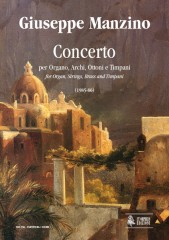 Manzino, Giuseppe : Concerto for Organ, Strings, Brass and Timpani (1985-86) [Score]