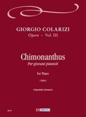 Colarizi, Giorgio : Chimonanthus for Piano (1984)