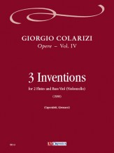 Colarizi, Giorgio : 3 Inventions for 2 Flutes and Bass Viol (Violoncello) (1980)
