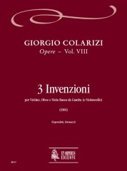 Colarizi, Giorgio : 3 Inventions for Violin, Oboe and Bass Viol (Violoncello) (1981)