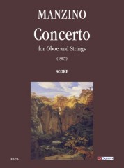 Manzino, Giuseppe : Concerto for Oboe and Strings (1987) [Score]
