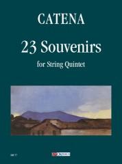 Catena, Ernani : 23 Souvenirs for String Quintet [Score]