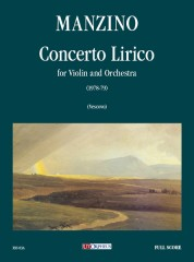 Manzino, Giuseppe : Concerto Lirico for Violin and Orchestra (1978-79) [Score]