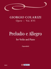 Colarizi, Giorgio : Preludio e Allegro for Violin and Piano