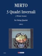 Mirto, Giorgio : 3 Winter Scenes for String Quartet (2011)