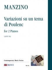 Manzino, Giuseppe : Variazioni su un tema di Poulenc for 2 Pianos (1975-76)
