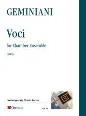 Geminiani, Paolo : Voci for Chamber Ensemble (2003) [Score]